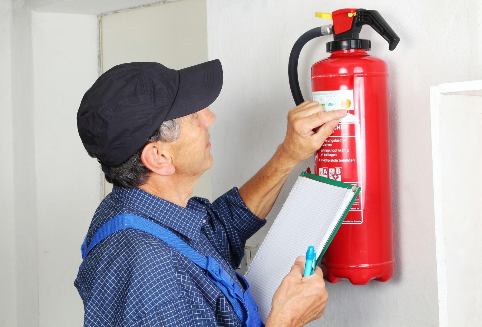 Care of extinguishers?